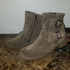 PAUL GREEN Royal Suede Anthrazit Ankle Boots US7.5